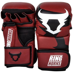 Venum Ringhorns Charger MMA Sparring Gloves - Red - Fightstore Pro