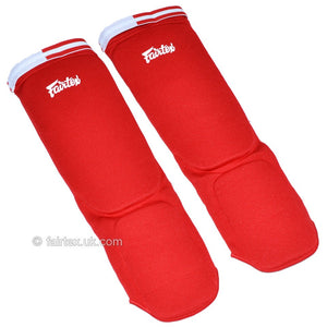 Fairtex SPE Red Elastic Competition Shin Pads 4