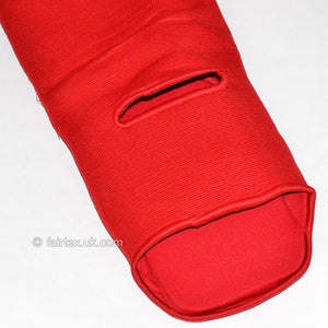 Fairtex SPE Red Elastic Competition Shin Pads 5