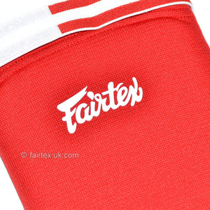 Fairtex SPE Red Elastic Competition Shin Pads 6