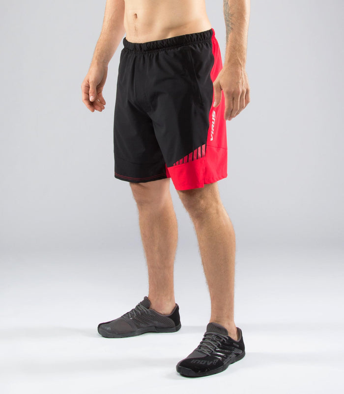 Virus Origin Mens Active Shorts Black/Red