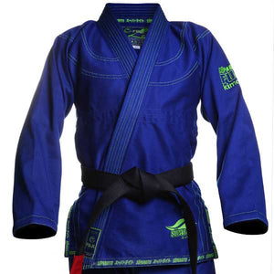 Fuji Suparaito BJJ Gi - Blue with Green 1
