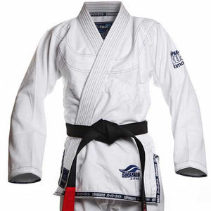 Fuji Suparaito BJJ Gi - White with Navy 2