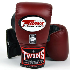Twins Air-Flow Bag Mitts - Burgundy - Fightstore Pro