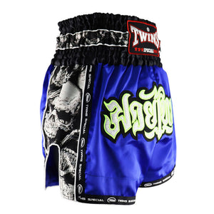 Twins TBS-SK4 Blue Skull Muay Thai Shorts