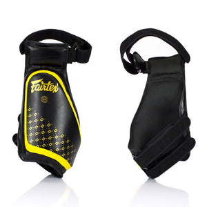 Fairtex TP4 Lightweight Thigh Pads - Black/Yellow