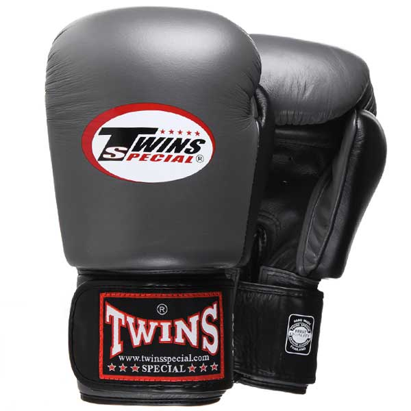 Twins Special BGVL-3T 2-Tone Boxing Gloves Grey-Black