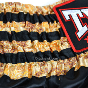 Twins TWS-008 Black-Gold Muay Thai Shorts