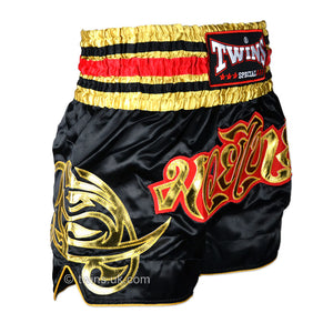 Twins TWS-154 Black-Gold Muay Thai Shorts