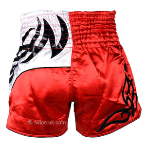 Twins TWS-155 Red-White Muay Thai Shorts