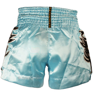 Twins TWS-867 Sky Blue Muay Thai Shorts 4