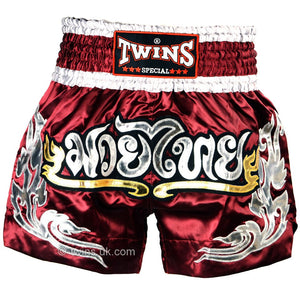 Twins TWS-868 Burgundy Muay Thai Shorts