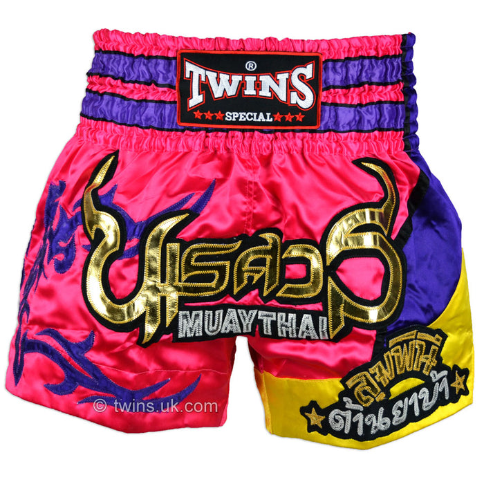 Twins TWS-884 Pink Purple Muay Thai Shorts
