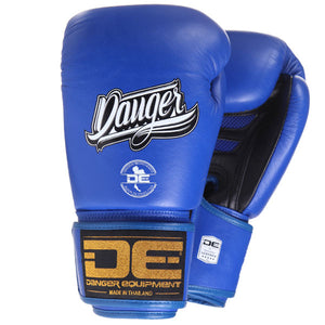 Danger Equipment Super Max Leather Boxing Gloves - Blue