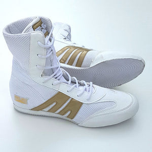 Pro Box Boxing Boots - White/Gold