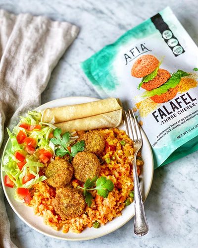 Three Cheese Falafel Tex-Mex Plate