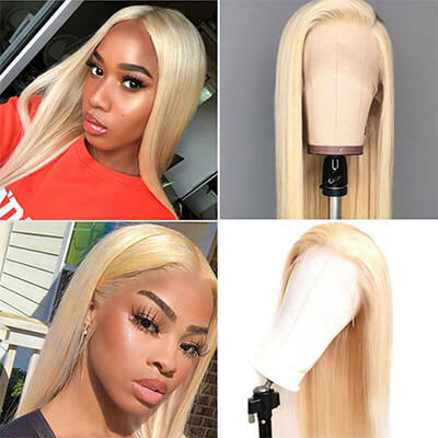 Perstar Hair 10A Straight Blonde 613 13X4 Lace Human Hair Wig With Baby Hair