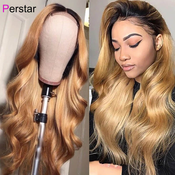 1b/27 ombre color human hair wig