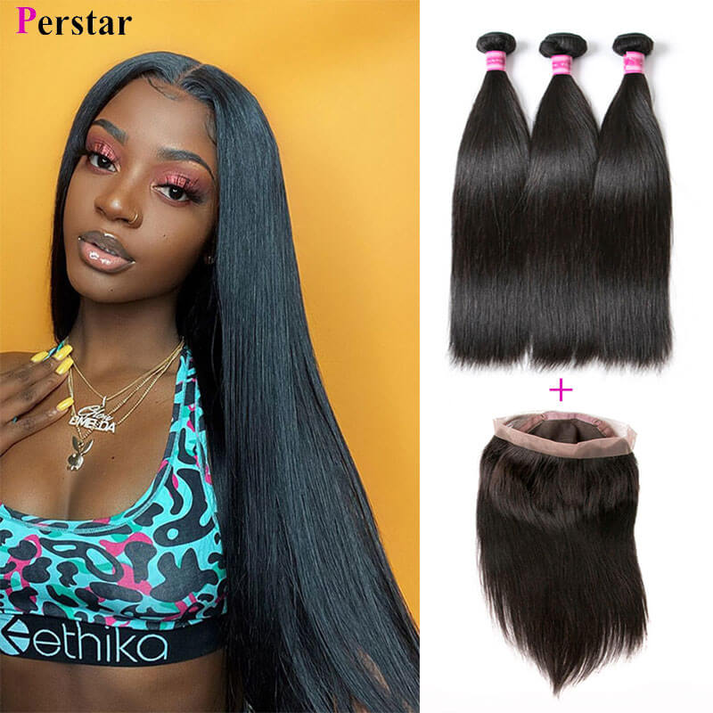 human hair bundles with 360 lace frontal