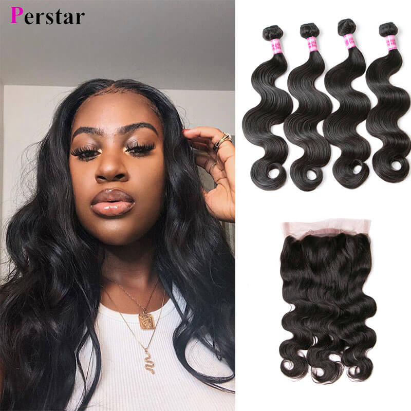 body wave human hair bundles with 360