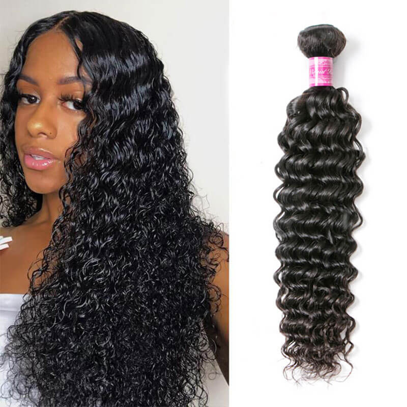 deep wave human hair 1 bundle