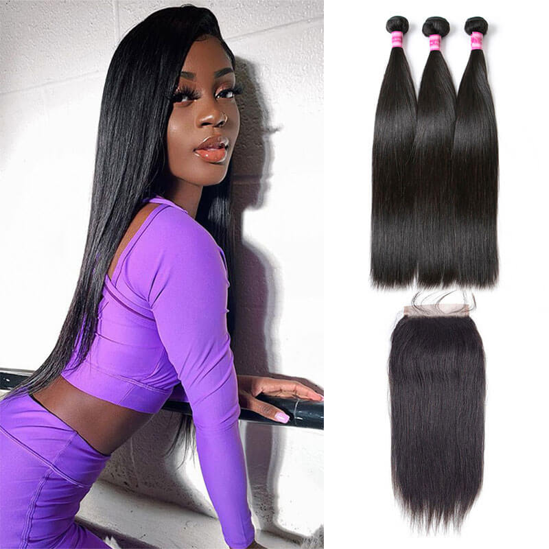 Straight 3 Bundles with Closure 4x4 Middle Part