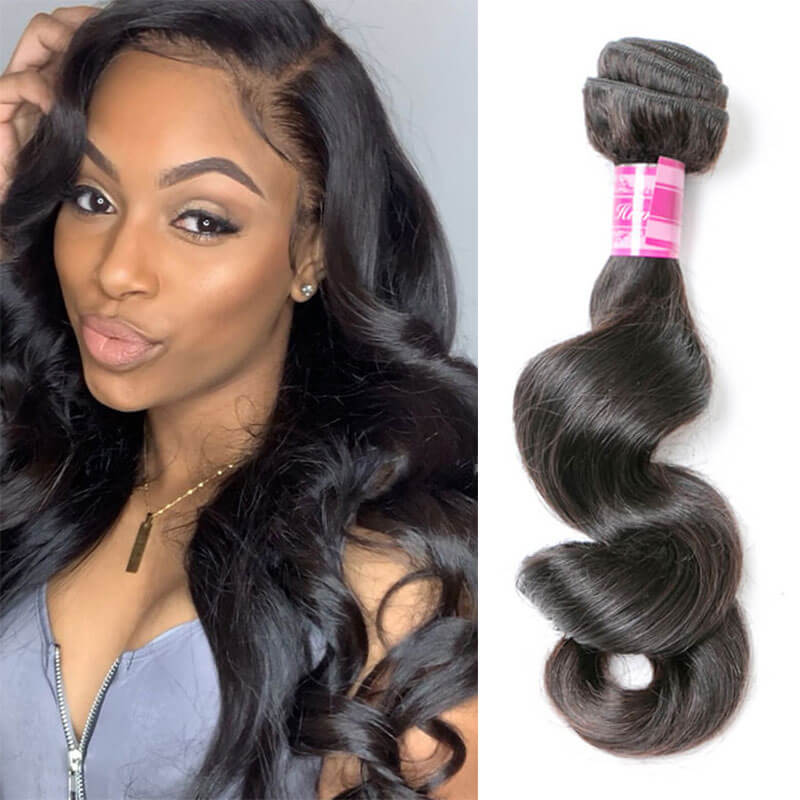 loose wave human hair 1 bundle