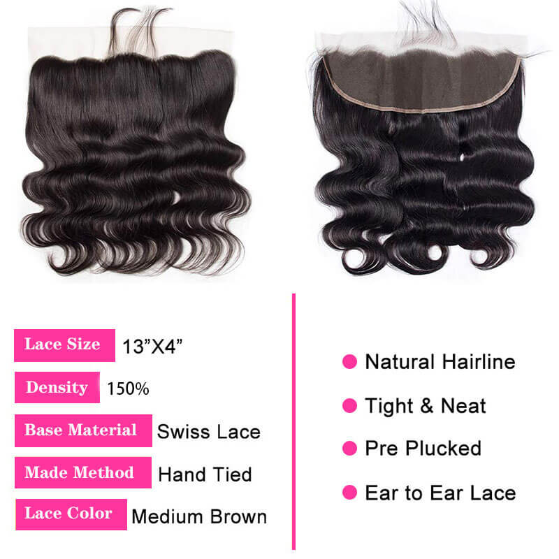body wave human hair lace frontal
