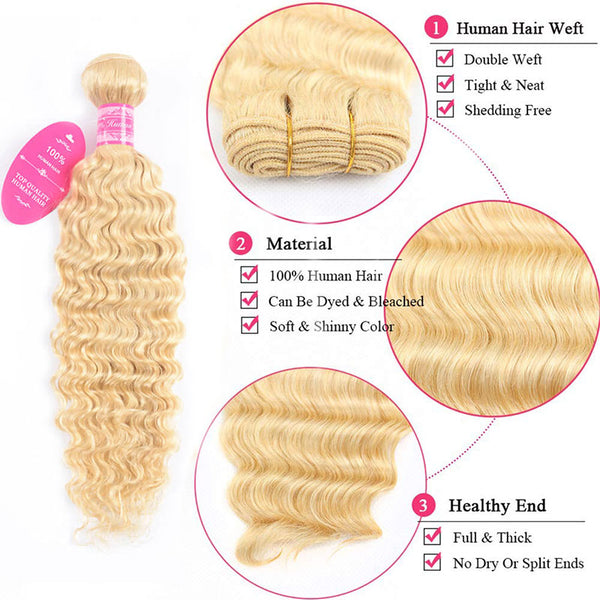 613 Deep Wave 3 Bundles brazilian virgin Human