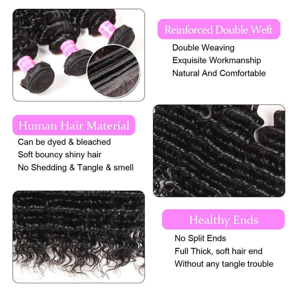 virgin hair bundles deep wave
