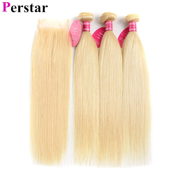 brazilian straight hair bundles 613 color