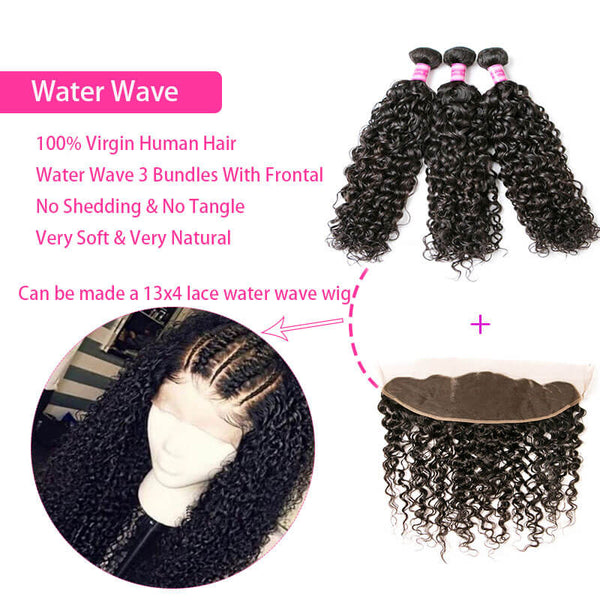 human virgin hair bundles with frontal