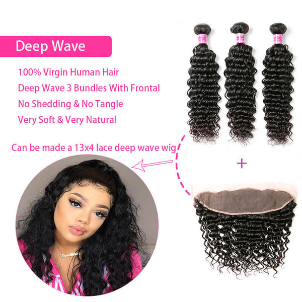 3 bundles with frontal deep wave