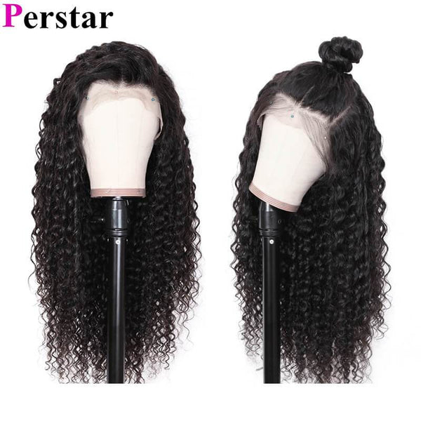 human hair deep wave lace front wigs