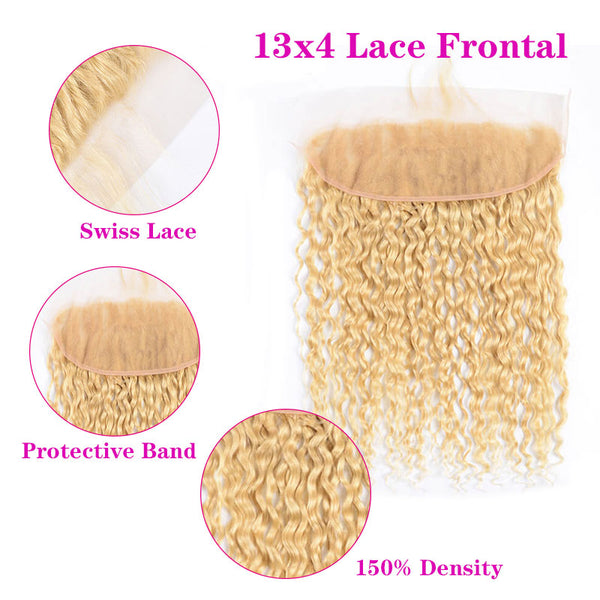 Water Wave 613 Blonde Human Hair 13x4 Lace Frontal | Perstar Hair