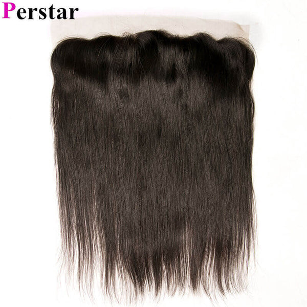 Straight Hair Lace Frontal Natural Color Unprocessed Virgin Hair