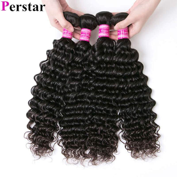 4 bundles human hair deep wave