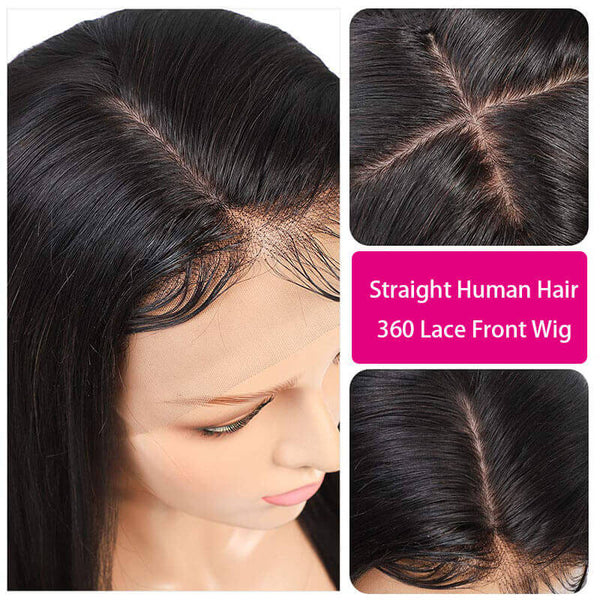 360 lace frontal human virgin hair