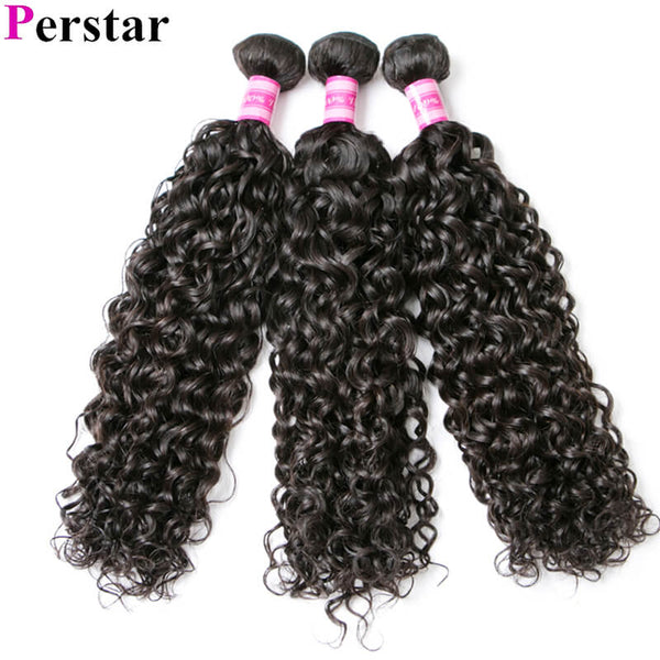 360 lace frontal with water wave 3 bundles hair extension