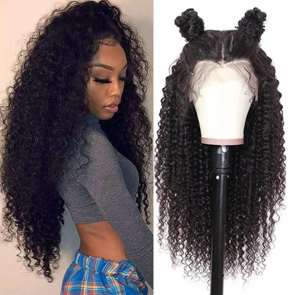 transparent lace curly lace front wig