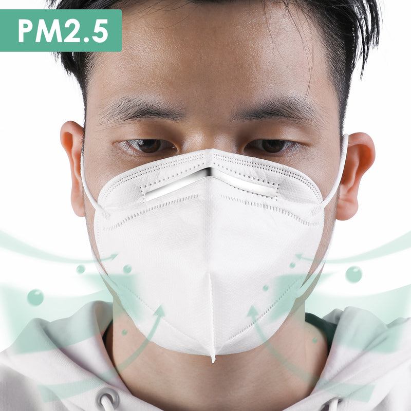 n95 face masks disposable kn95 not washable 10 pcs pack ppe - keeypon
