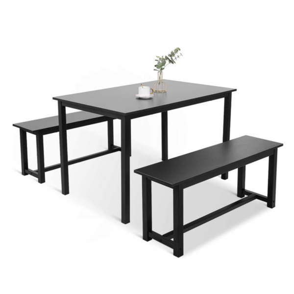 3 Piece Kitchen Dining Table with Bench