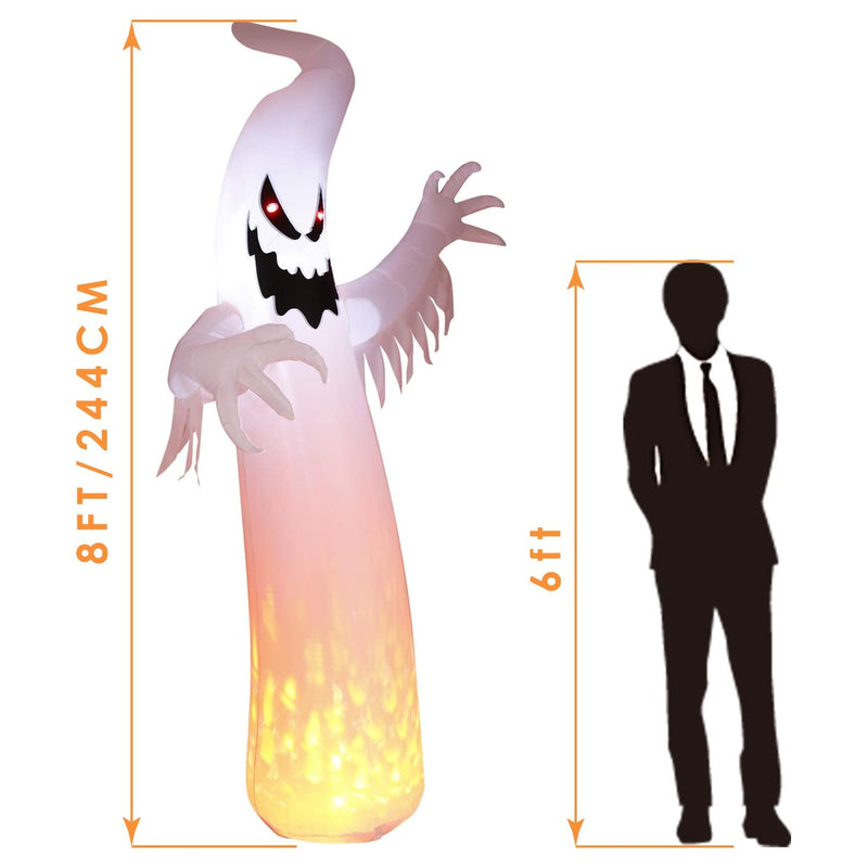 [Out of Stock] Halloween Decorations Inflatables 8FT LED Lights for Yard Outdoor Party