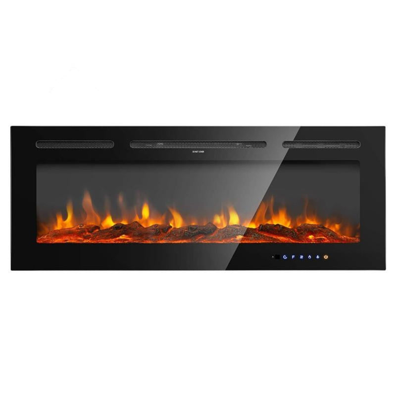 36'' Electric Fireplace Heaters | with 9 Colors & Remote Control & Hidden Touch Screen