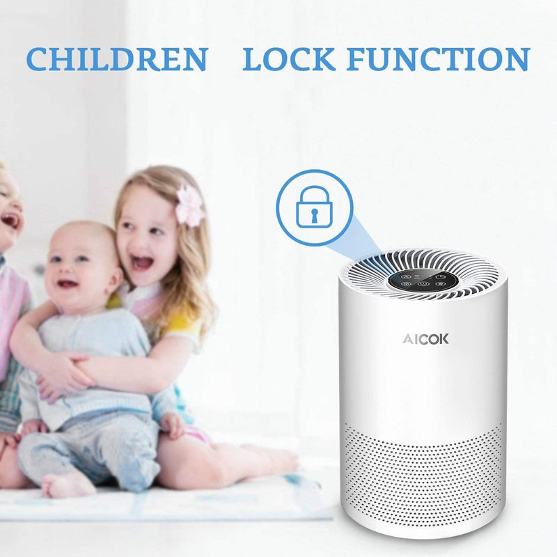 Air Purifier HEPA Filter Low-noise with Night Light