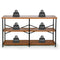 TUSY Rustic Console Table | 55 Inches & 3 Tiers