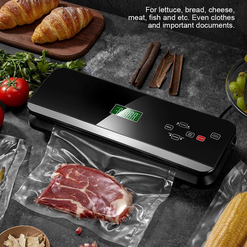 4-in-1 Automatic Vacuum Sealer Machine 120W with LCD Touch Screen - Final Sale
