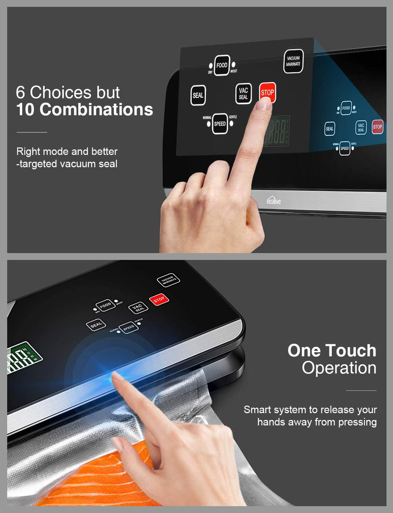 Vacuum Sealer Machine 120W 4 in 1 Automatical LCD Touch Screen - KeeyPon