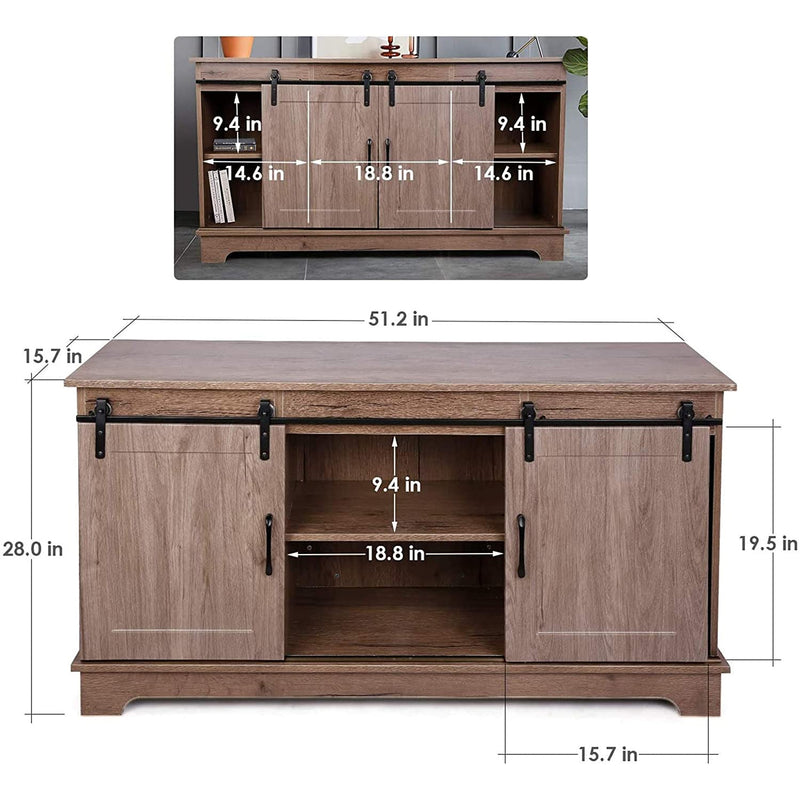 TV Stand for TVs up to 55'' Sliding Barn Door