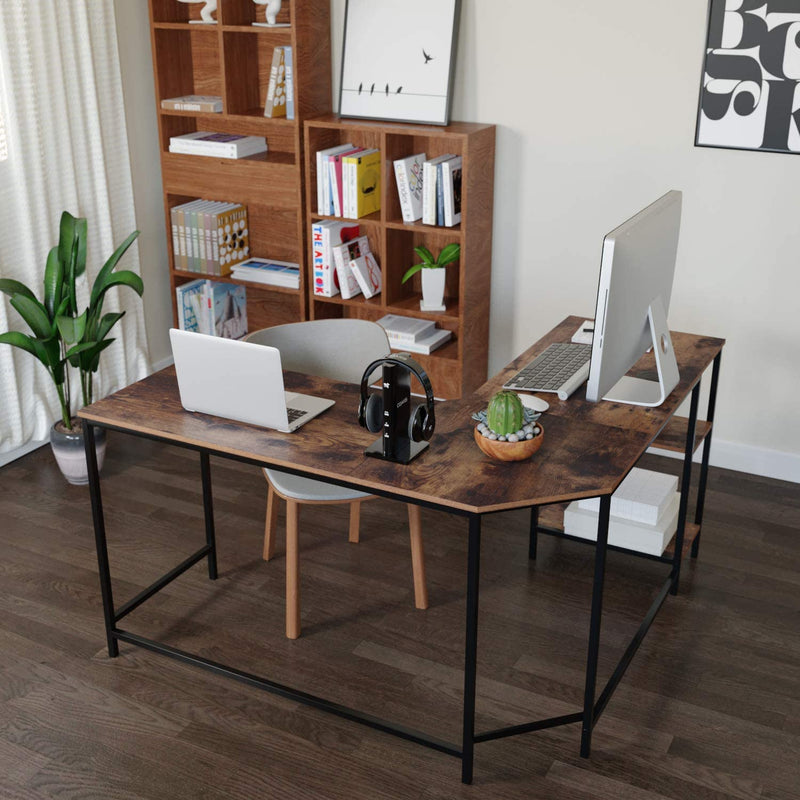 L-Shaped Vintage Writing Desk